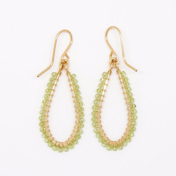 Itty Bitty Peridot Rondelle Earrings - E2043