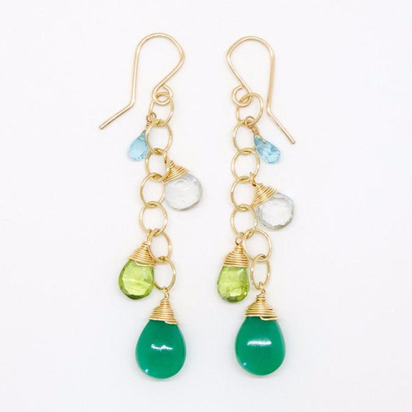 Chrysoface, Peridot, Green Amethyst Earrings - E2049