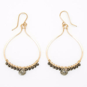 Large Gold Filled Lotus Petal Earrings - E2056
