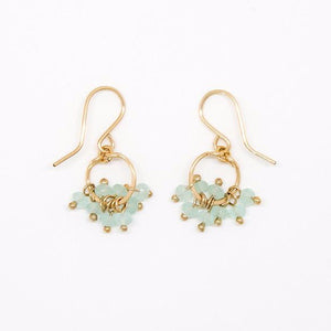 Baby Chalcedony Rondelles Circle Earrings - E2095