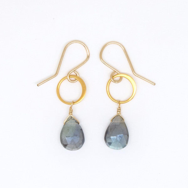 Fiery Mystic Labradorite Drop Earrings - E3000