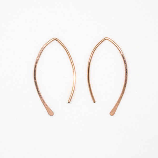 Rose Gold Small Threader Earrings - E3055