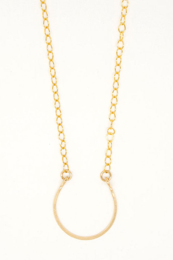 Gold Filled Horseshoe Necklace - 6820