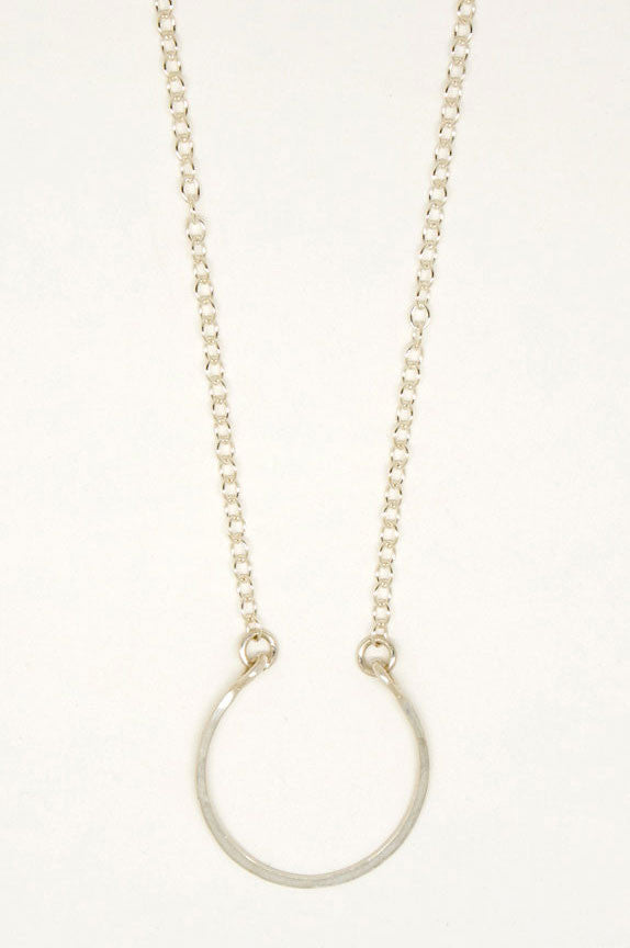 Sterling Silver Horseshoe Necklace - 6821