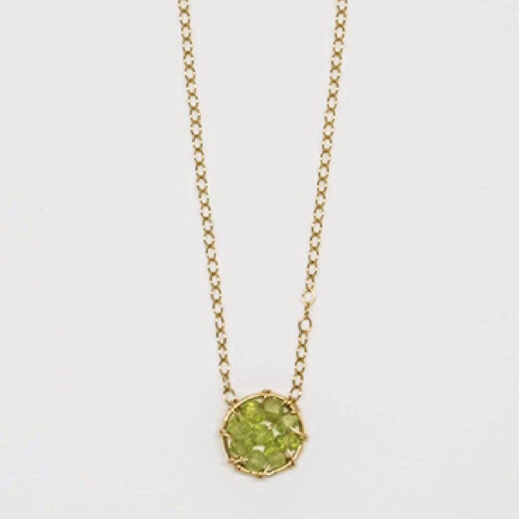 Circle Necklace (Peridot) - 7097