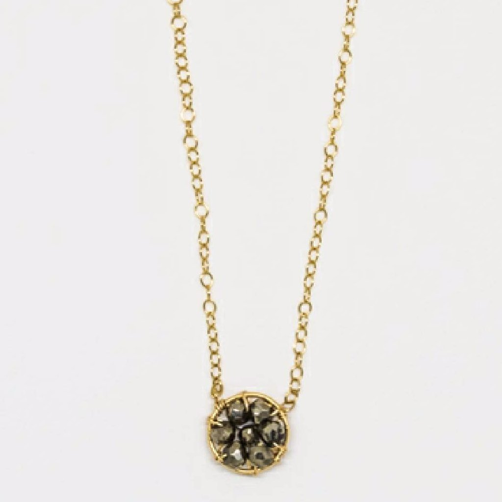 Circle Necklace (Pyrite) - 7097