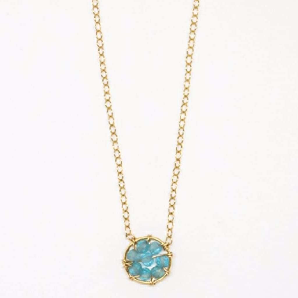 Circle Necklace (Apatite) - 7097