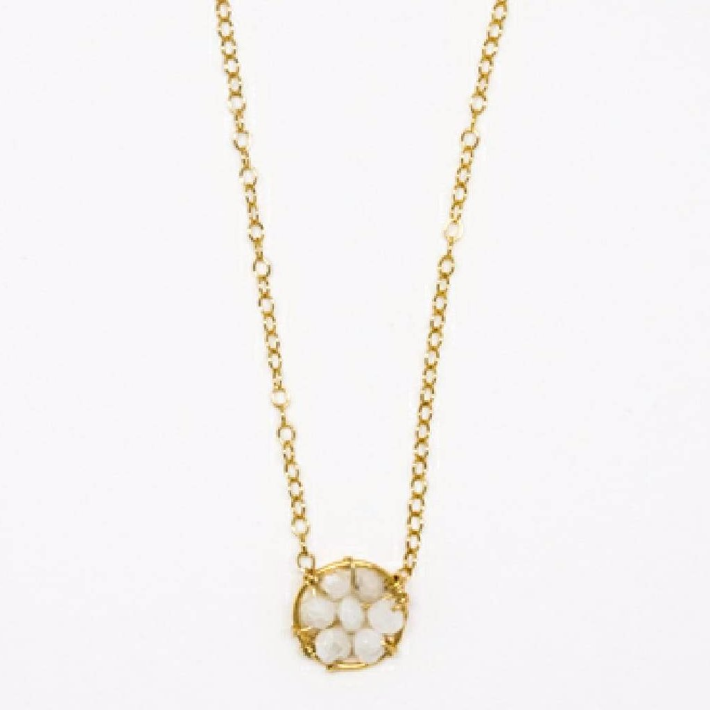 Circle Necklace (White Sapphire) - 7097