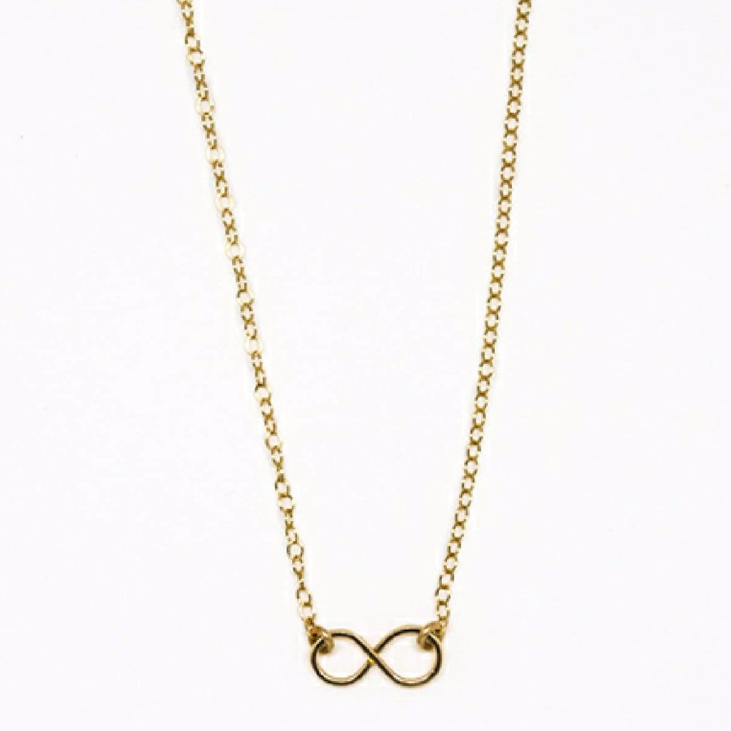 Tiny Gold Infinity Pendant Necklace - 7108
