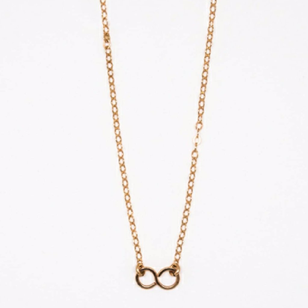 Tiny Rose Gold Infinity Pendant Necklace - 7111