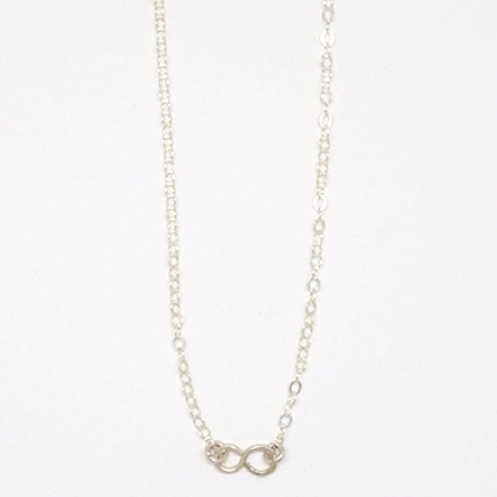 Tiny Sterling Silver Infinity Pendant Necklace - 7105