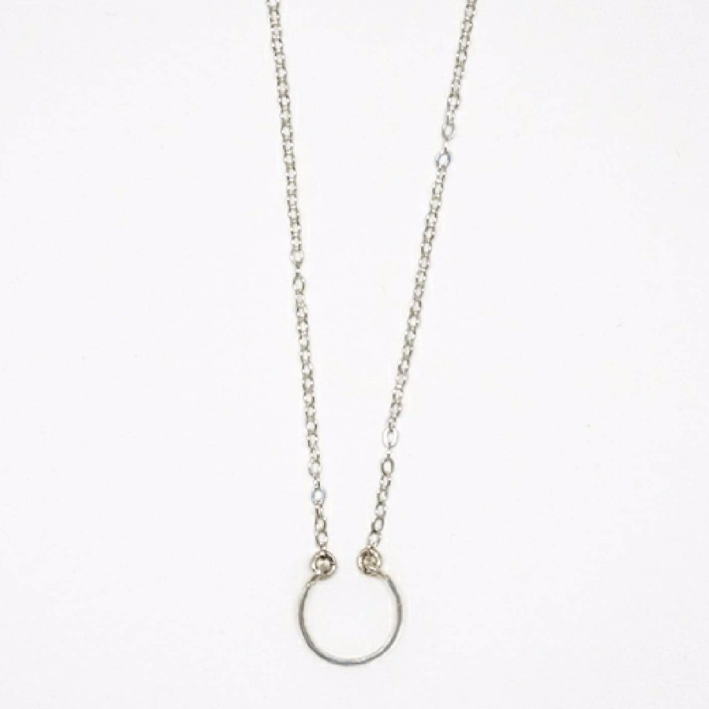 Tiny Sterling Silver Horseshoe Necklace - 7104
