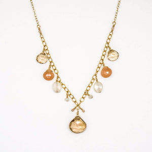 Citrus Multi-Stone Drop Necklace - 8006