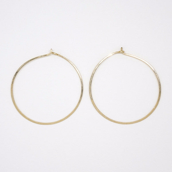 Gold Filled Round Hoops - E1688