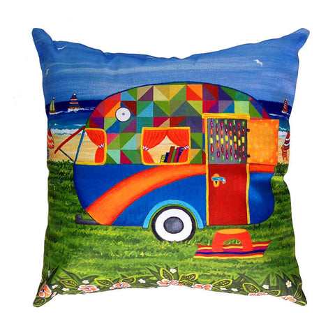 Caravan Holiday Bobby-Ray - Outdoor Premium Cushion Cover - Quirky Happy