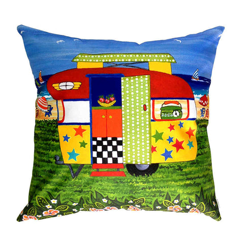 Caravan Holiday Ricky-Lee - Outdoor Premium Cushion Cover - Quirky Happy