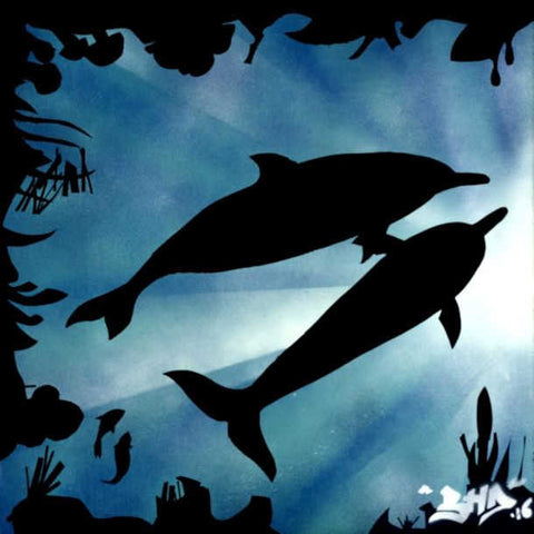 Dolphin Wall Art - Quirky Happy