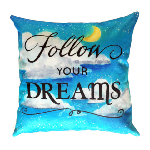 NEW DESIGN Follow Your Dreams - Outdoor Premium Cushion Cover - Quirky Happy