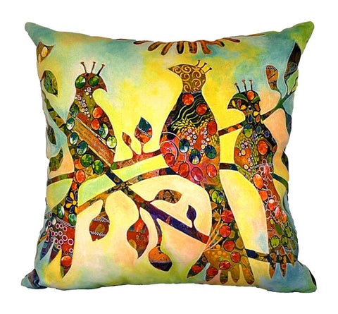 Garden of Thought Plush Cushion Cover - Quirky Happy - 1