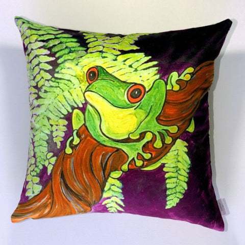 Hello There Frog Plush Cushion Cover - Quirky Happy