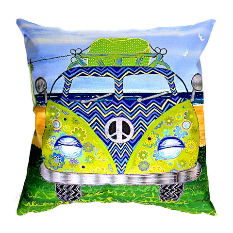 Kombie Blue - Outdoor Premium Cushion Cover - Quirky Happy