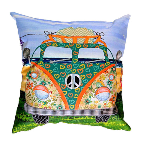 Kombie Green - Outdoor Premium Cushion Cover - Quirky Happy