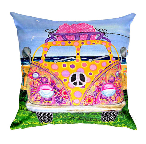 Kombie Pink - Outdoor Premium Cushion Cover - Quirky Happy