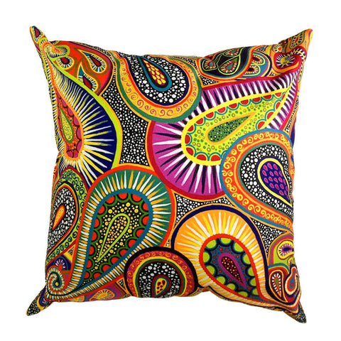 Lifeforce - Outdoor Premium Cushion Cover - Quirky Happy