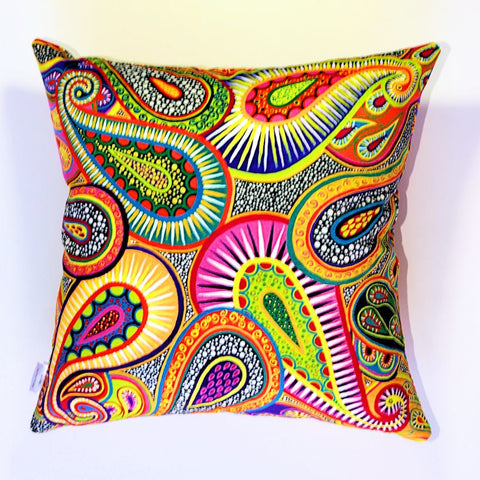 Lifeforce Plush Cushion Cover - Quirky Happy