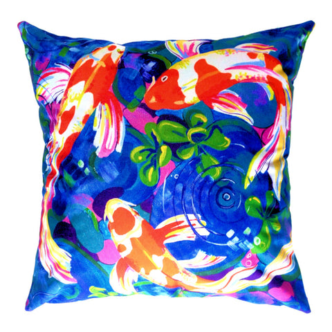 NEW DESIGN - Lucky Koi Fish Outdoor Premium Cushion Cover - Quirky Happy