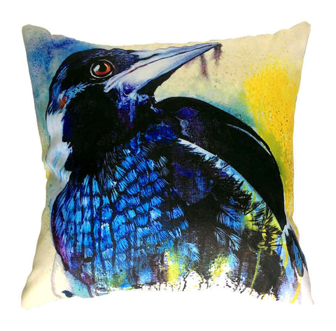 Magpie - Outdoor Premium Cushion Cover - Quirky Happy