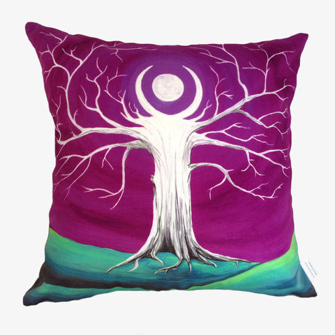 NEW DESIGN Amethyst Moon Tree Hill Cushion Cover - Quirky Happy - 1