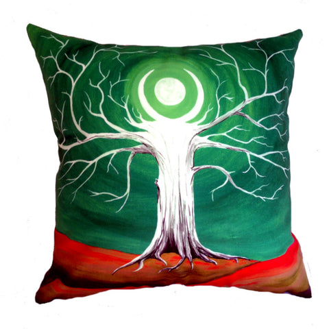 NEW DESIGN Emerald Moon Tree Hill Cushion Cover - Quirky Happy - 1