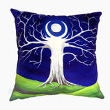 NEW DESIGN Emerald Moon Tree Hill Cushion Cover - Quirky Happy - 2