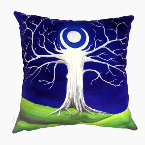 NEW DESIGN Sapphire Moon Tree Hill Cushion Cover - Quirky Happy - 1