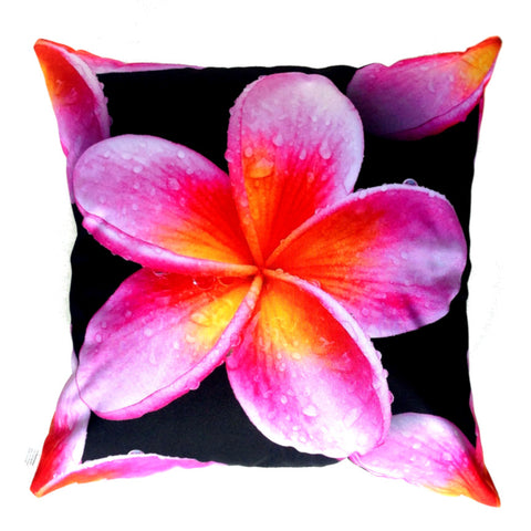 NEW DESIGN- Pink Frangipani Outdoor Premium Cushion Cover - Quirky Happy