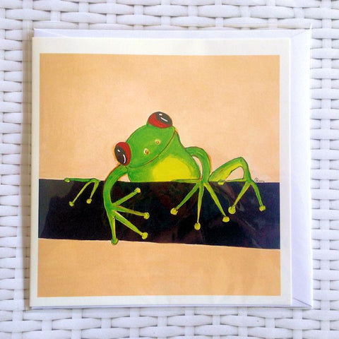 Smiling Frog Card - Quirky Happy