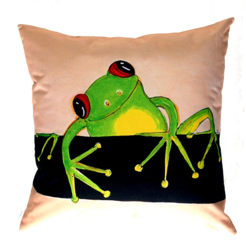 Smiling Frog - Outdoor Premium Cushion Cover - Quirky Happy