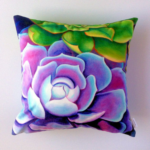 Succulent no. 3 Plush Cushion Cover - Quirky Happy