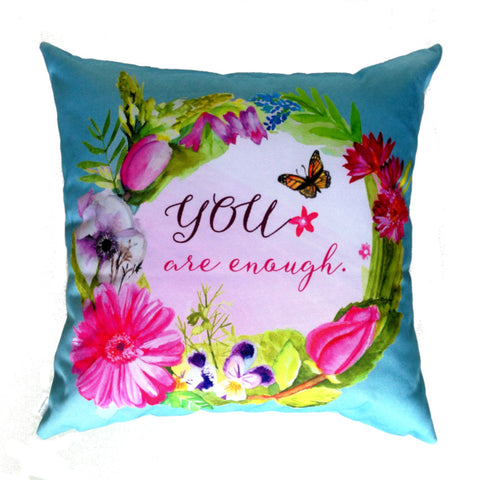 NEW DESIGN You Are Enough - Outdoor Premium Cushion Cover - Quirky Happy