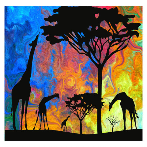 African Dawn Canvas Wall Art - Quirky Happy - 1