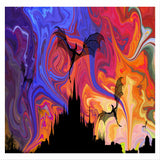 Dragon Nights Canvas Wall Art - Quirky Happy - 1