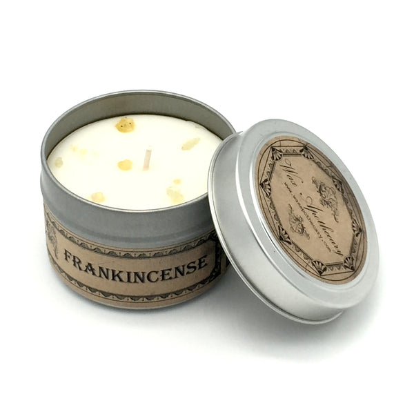 Frankincense 4oz Botanical Candle Travel Tin