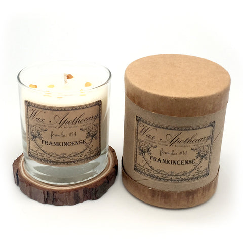 Frankincense 7oz Botanical Candle in Scotch Glass