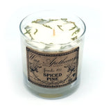 Spiced Pine 7oz Botanical Candle in Scotch Glass