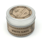 White Sage 4oz Botanical Candle Travel Tin
