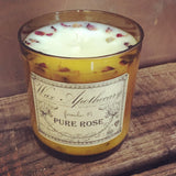 9oz Artisan Amber Glass Candle