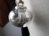 Wish Bubble Pendant Necklace : Lavender and Selenite Crystals