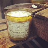 9oz White Sage Artisan Amber Glass Candle