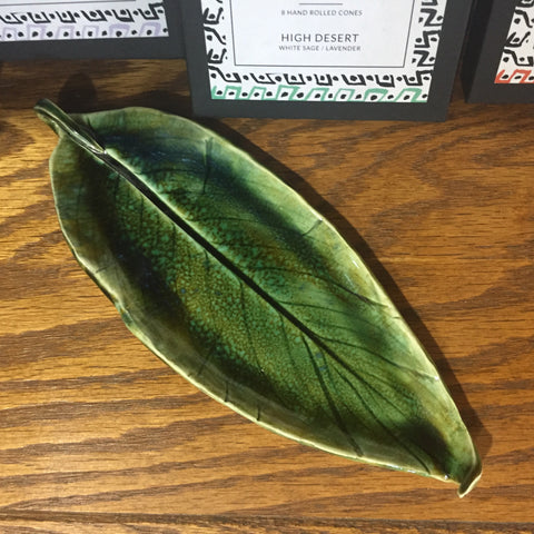 Handmade Ceramic Leaf Dish / Incense Plate